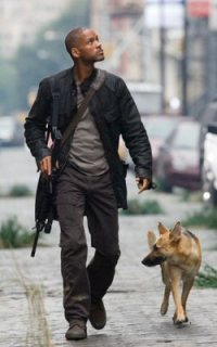 Just a typical walk with his dog through a deserted NYC. Typical, is what I say and typical is what I mean.