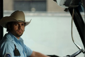 I wish all NYC bus drivers looked this cool, and especially wore a cowboy hat.