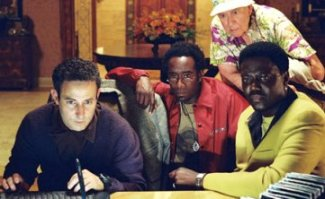 Yes, that is Carl Reiner right next to Bernie Mac.