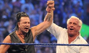 Sad to say, but at this stage in Ric Flair's career, Mickey Rourke probably has more wrestling-skills than him.