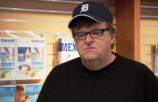 Quick! Michael Moore is having a stroke! Get him to the hospital! Oh, never mind.