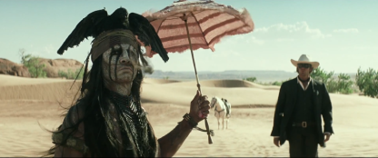 That's so silly! Native Americans don't use umbrellas, especially NOT in the desert. Wow!
