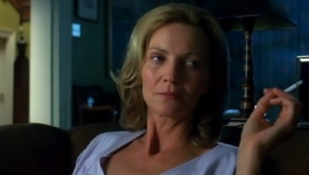 That Joan Allen: Takin' a drag and just lookin' spicy!