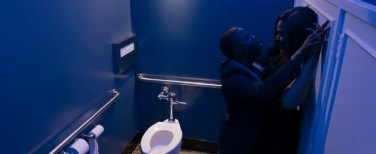 Sex in the bathroom-stall: We've all been there before, right guys? Come on! Help me out here!
