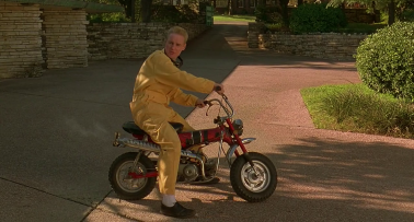 """Oh! The """"grown-man-on-small-bike"""" gag! Never gets old!"""