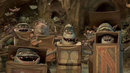 Pictured from left to right: Generic Boxtroll #1, Generic Boxtroll #2, Generic Boxtroll #3, Generic Boxtroll #4, Generic Boxtroll #5.