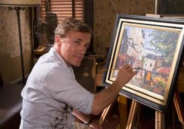 He paints.