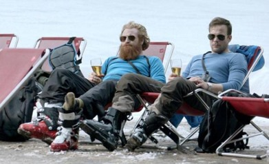 Just another couple of bros relaxing and having some brews.