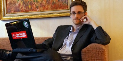 "Snowden lookin' sassy. Look out, ladies. No seriously, lookout. The government will be after your ass quicker than you can say ""web leaks""."