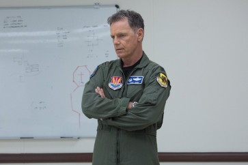 Once again, Bruce Greenwood's playing a character that's pissed off for some unknown reasons.