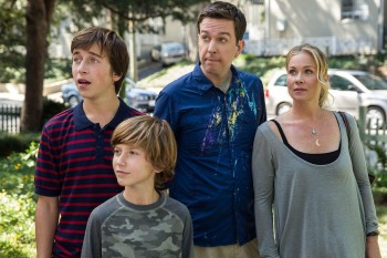"""Something"" is on Ed Helms' shirt and it's HILARIOUS."