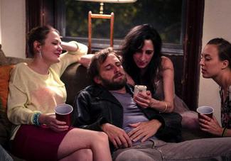 How I imagine the ladies always smother Josh Lucas at parties. Lucky bastard.