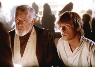 One generation of cool-ass Jedi's, to another.